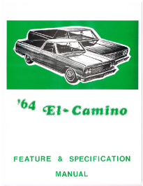 1964 El Camino Facts and Specifications Manual