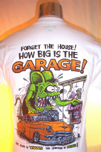 How Big is the Garage Rat Fink T-shirt