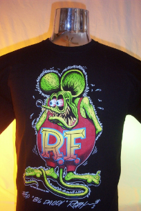 Rat Fink T-shirt on Black with Signature