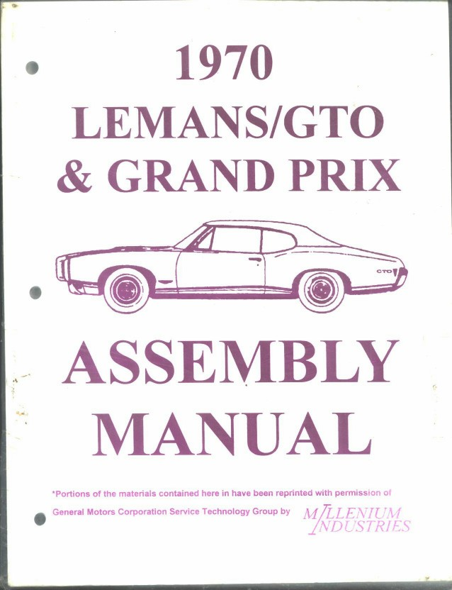assembly manual pontiac gto 1967 1969 and 1970. Black Bedroom Furniture Sets. Home Design Ideas